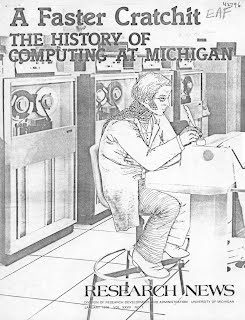 "Cover from ""A Faster Cratchit -- The History of Computing at Michigan"""