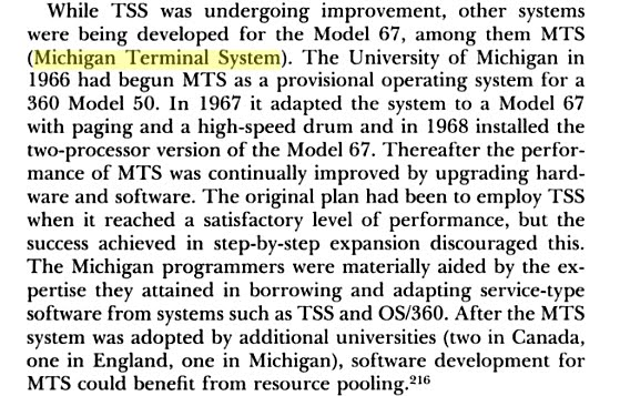 "A paragraph from page 364 of the book ""IBM's 360 and early 370 systems"""
